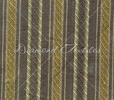 Essex Woven Collection RHS 232 Blue-Gray with Stripes of Cream and Greenish Gold