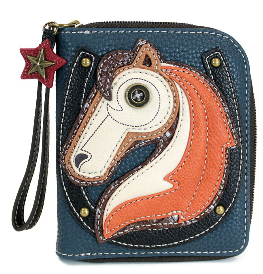 Horse Zip Around Wallet
