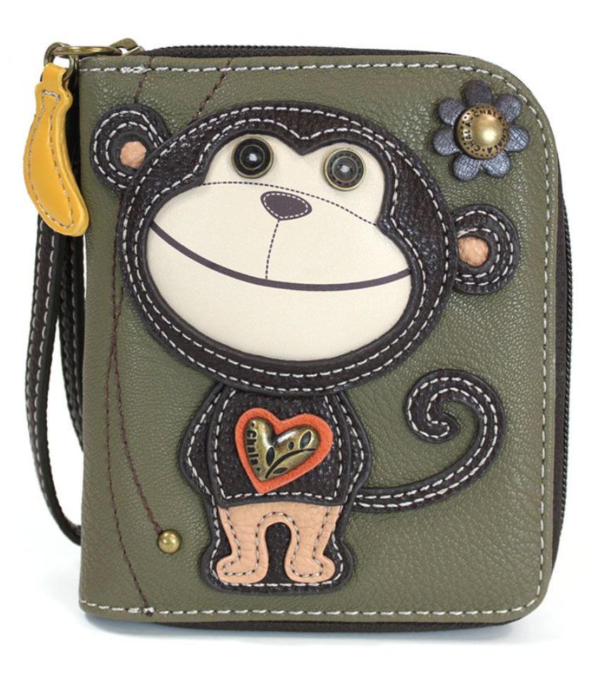 Monkey Zip Around Wallet