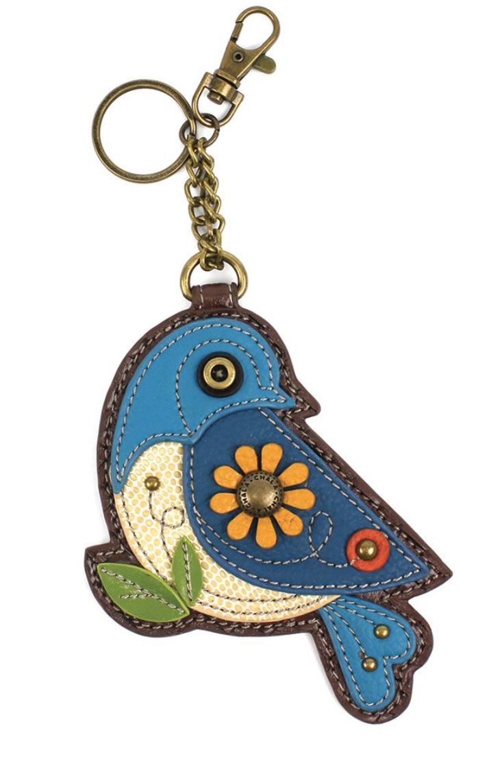 Blue Bird Key Fob / Coin Purse