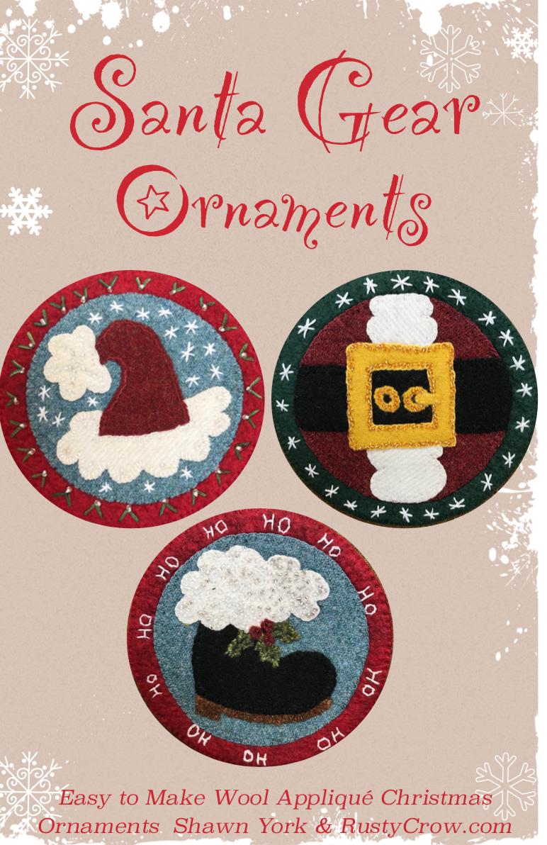 Santa Gear Christmas Ornaments