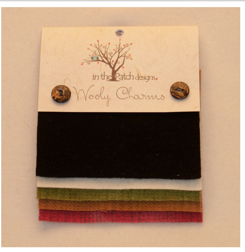 Wooly Charms Black Tie Hand Dyed 100% wool 5in X 5in 5 count
