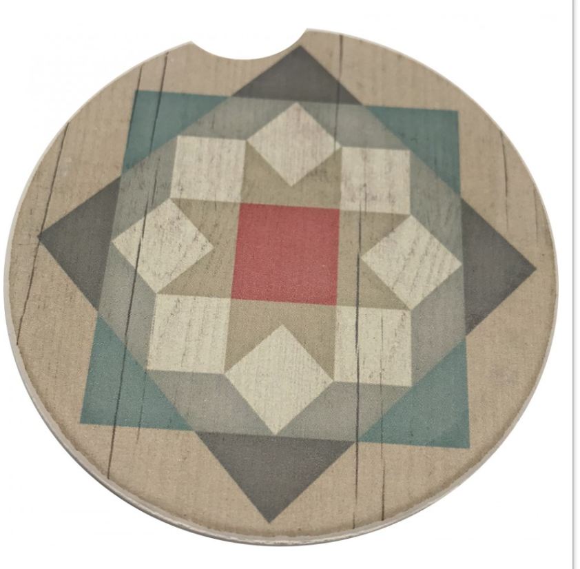 Barn Star Car Coaster Absorbent Stone