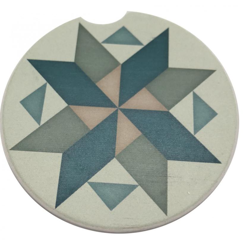 Pinwheel Car Coaster Absorbent Stone