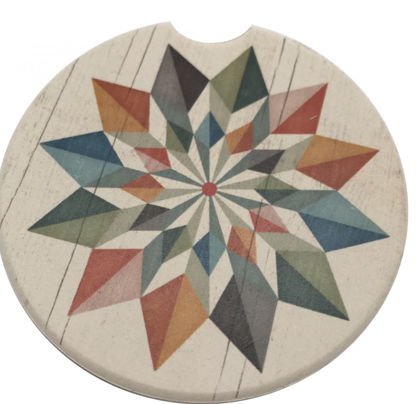 Hex Star Car Coaster Absorbent Stone