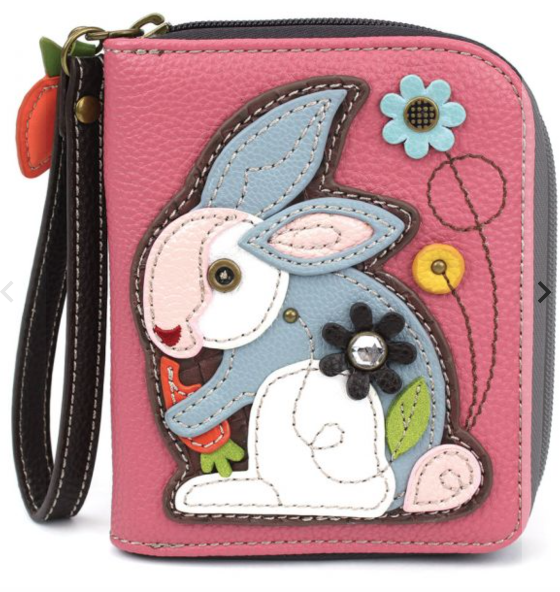 Rabbit Zip Around Wallet Pink