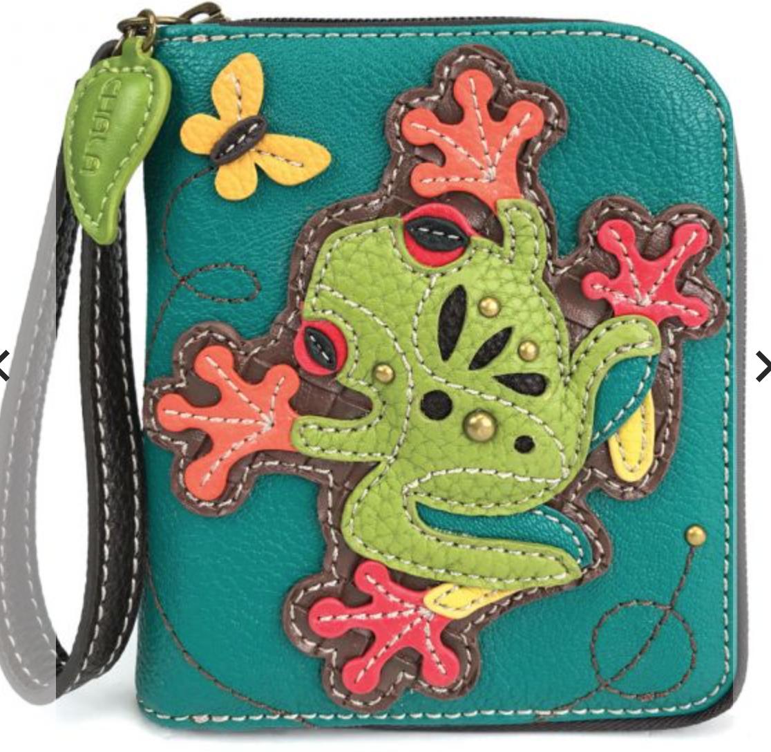 Frog Zip Around Wallet
