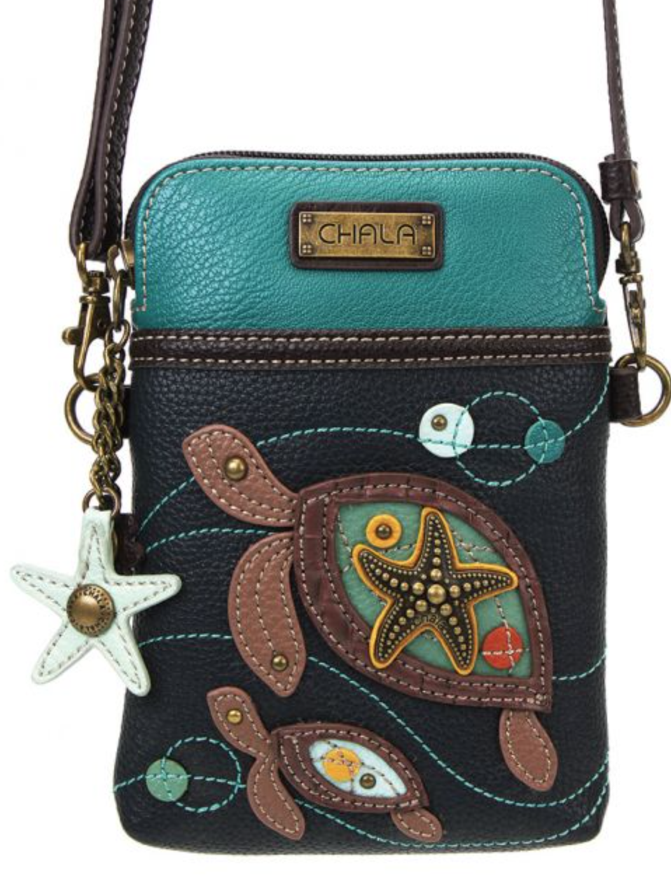 Two Turtles Cell Phone Crossbody Purse