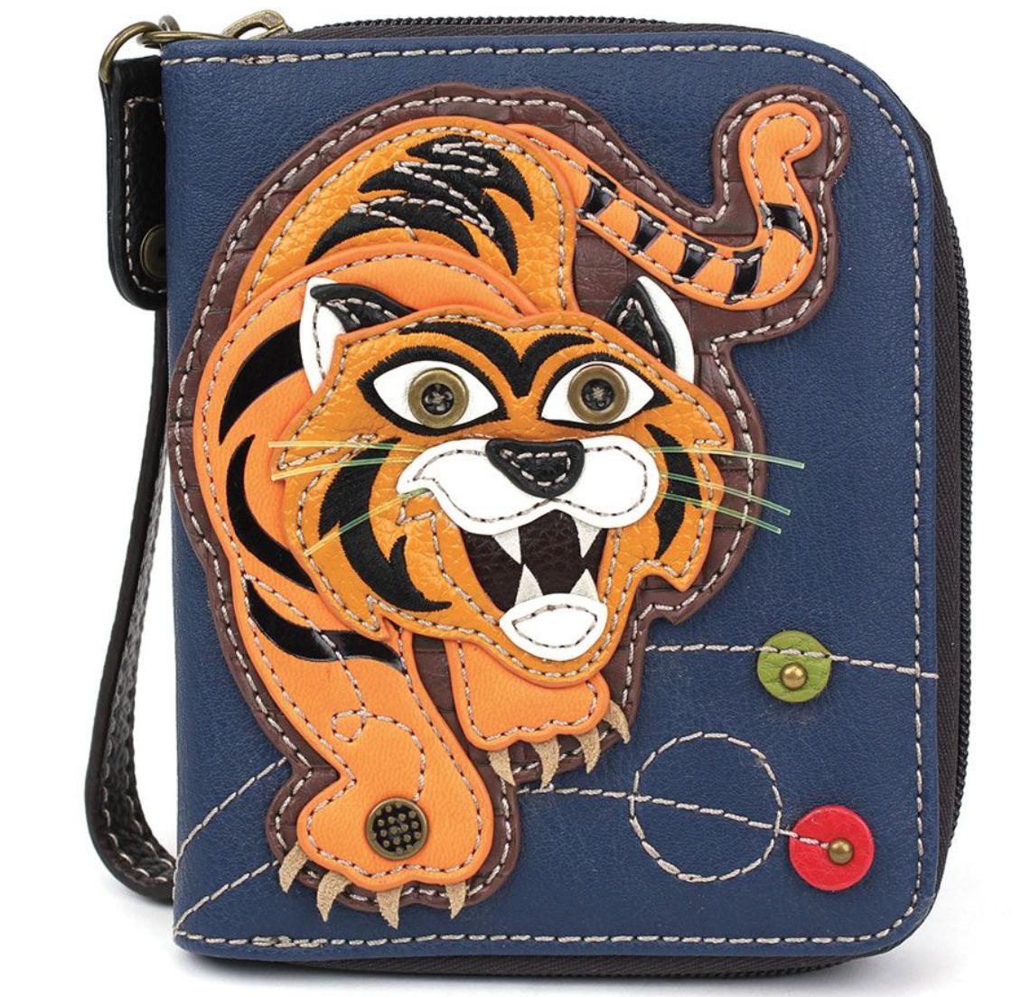 Tiger Zip Around Wallet Navy