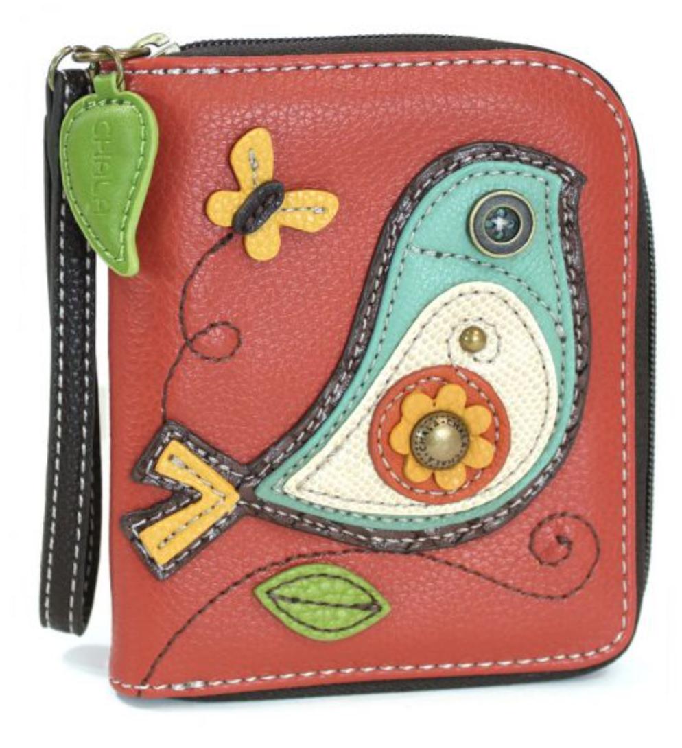 Bird II Zip Around Wallet Brick Red