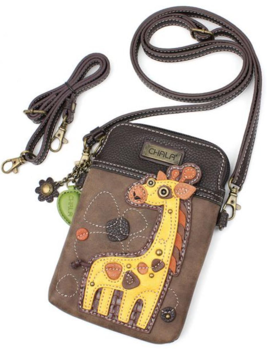 Giraffe Cell Phone Crossbody
