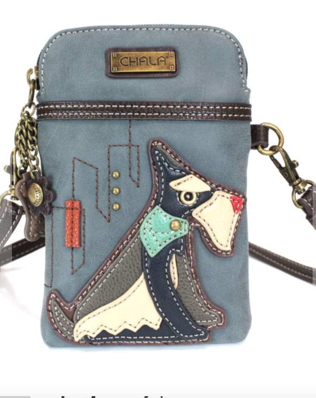 Schnauzer Cell Phone Crossbody