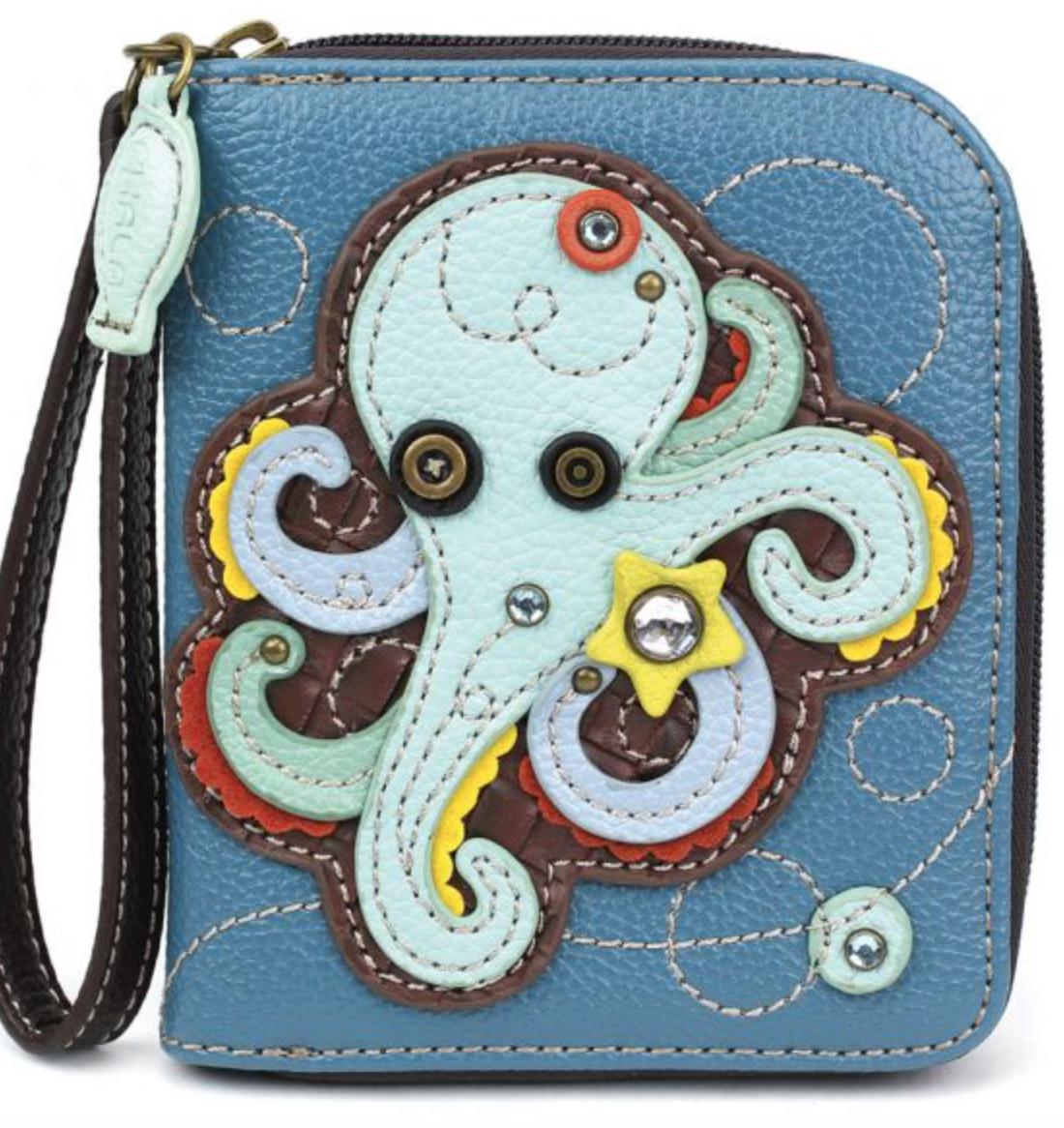 Octopus Zip Around Wallet