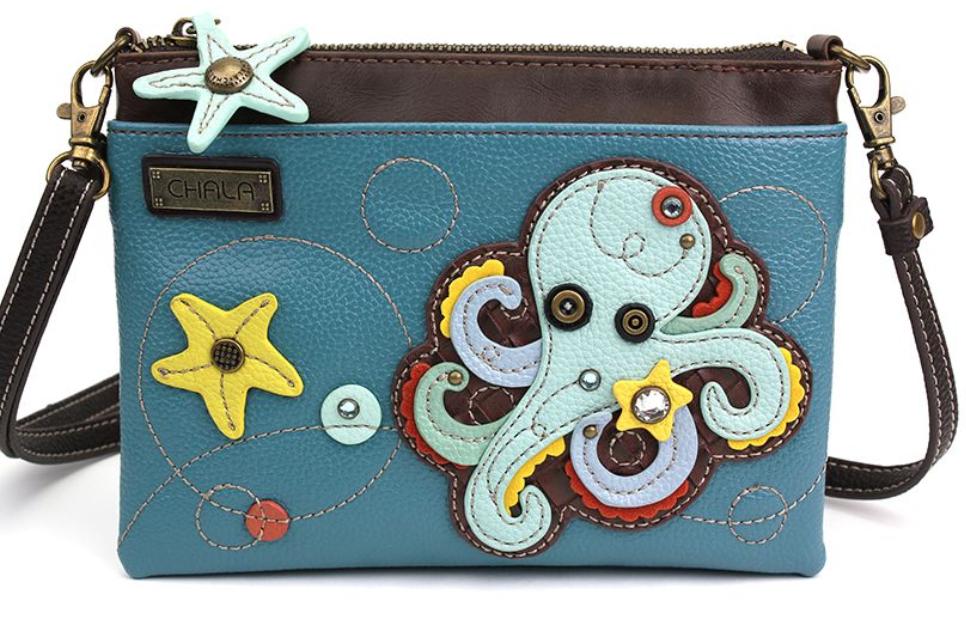Octopus Blue Mini Crossbody