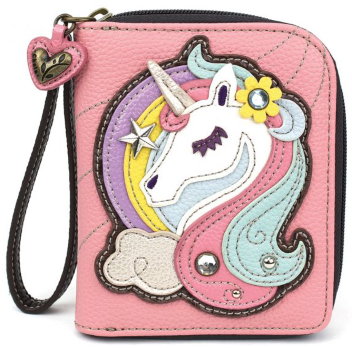 Unicorn Pink Zip Around Wallet