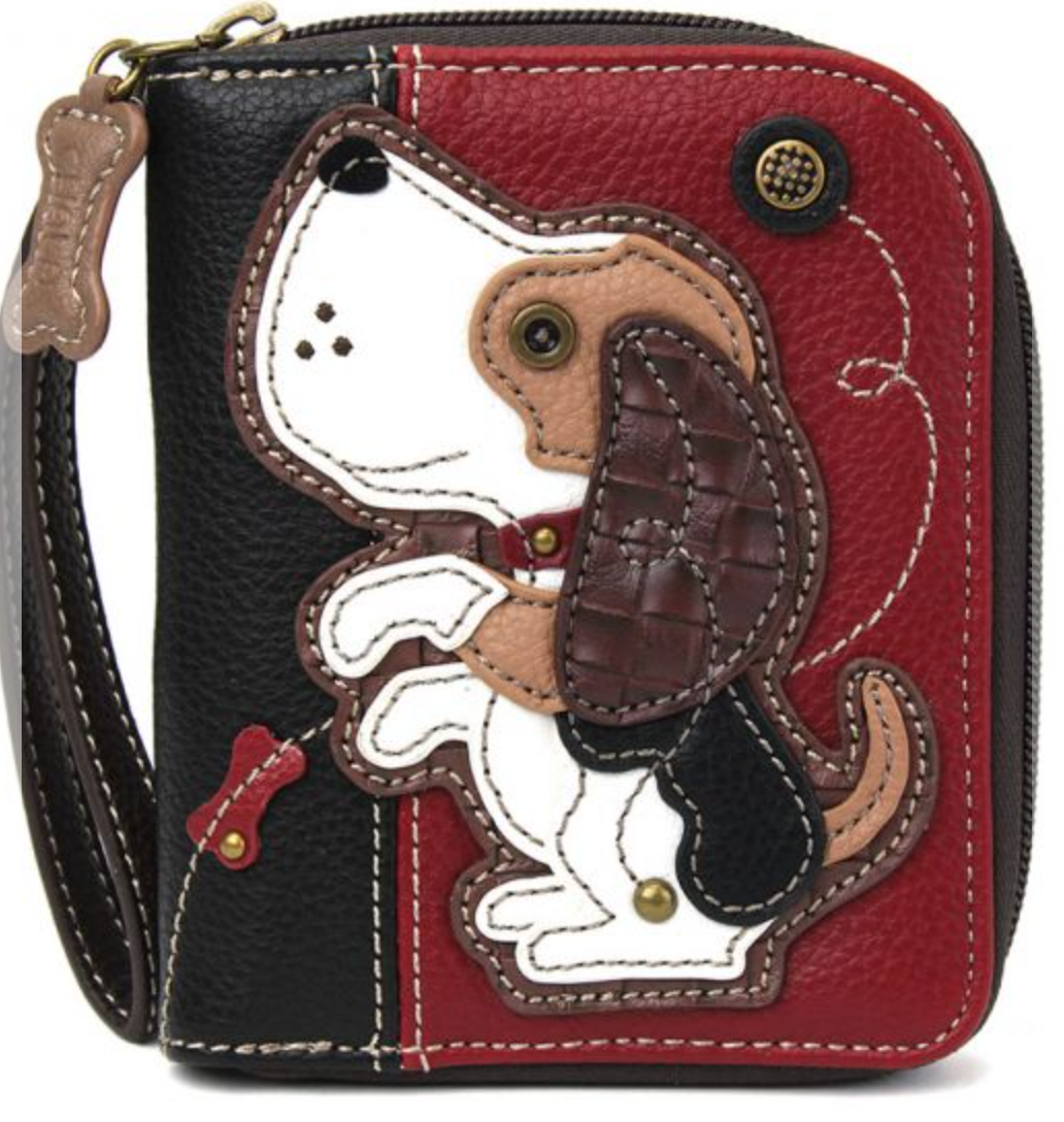 Dog Gen II Burgundy Zip Around Wallet