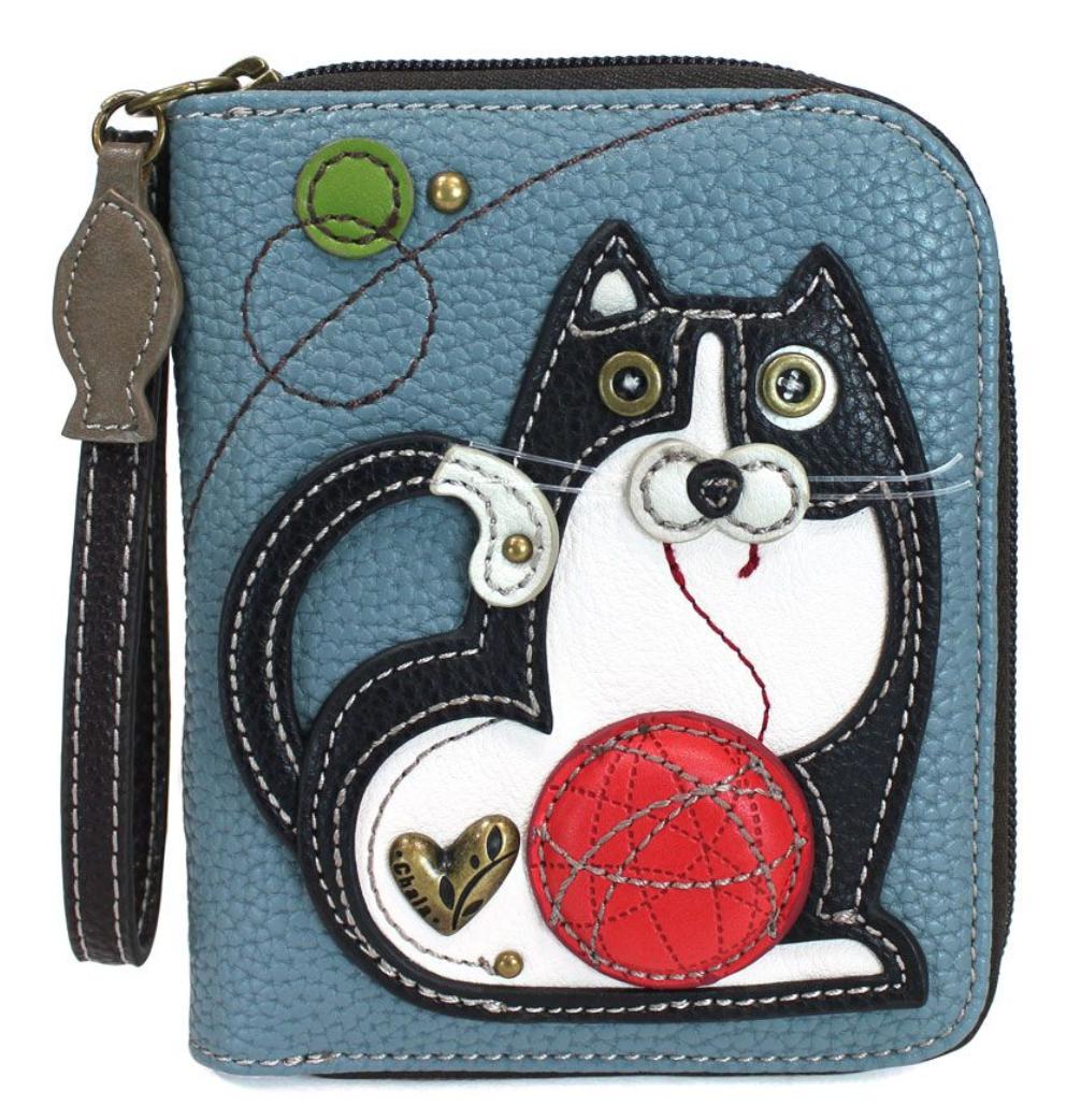Fat Cat  Zip Around Wallet