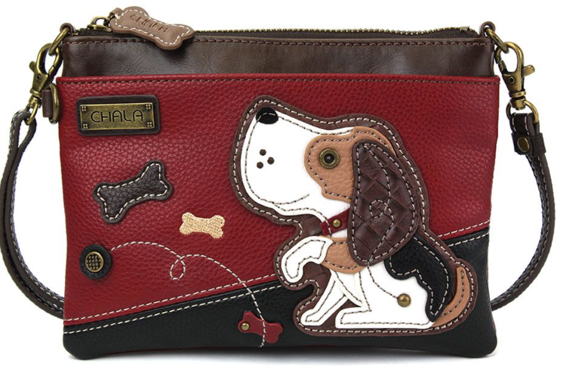 Dog A Burgundy Mini Crossbody