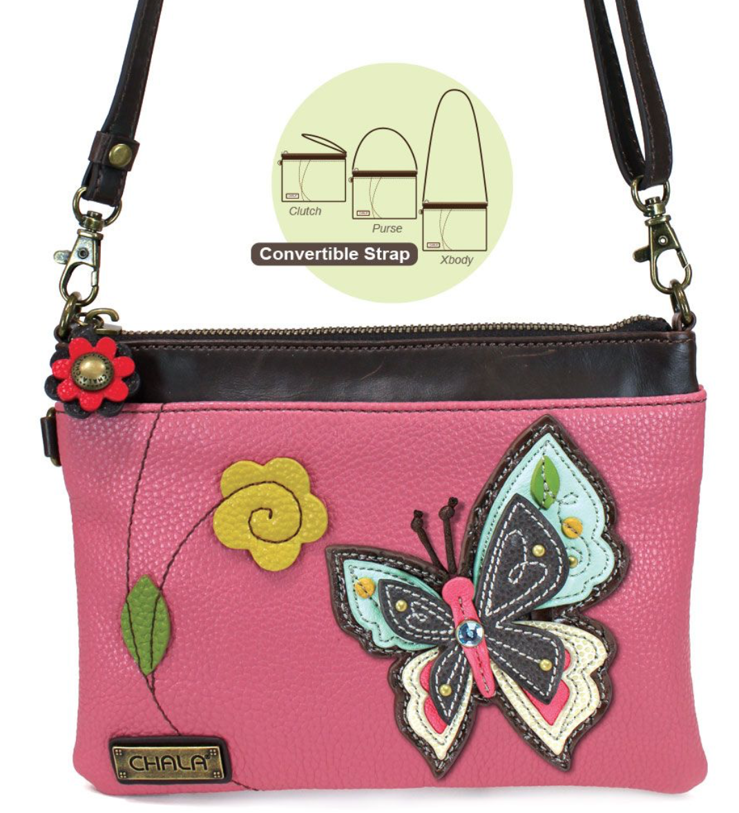 New Butterfly Pink Mini Crossbody