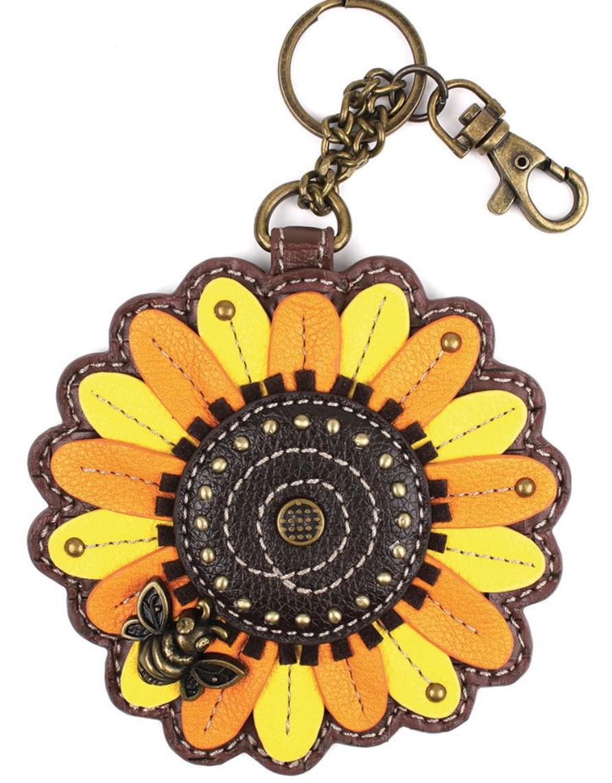 Sunflower Key Fob / Coin Purse