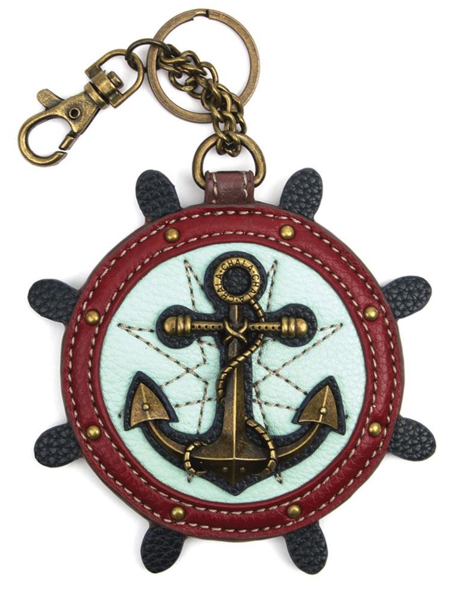 Anchor Key Fob/Coin Purse