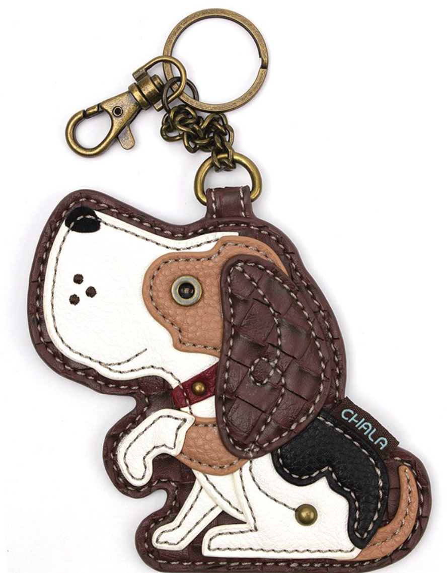 Dog with Paw up  Key Fob/Coin Purse