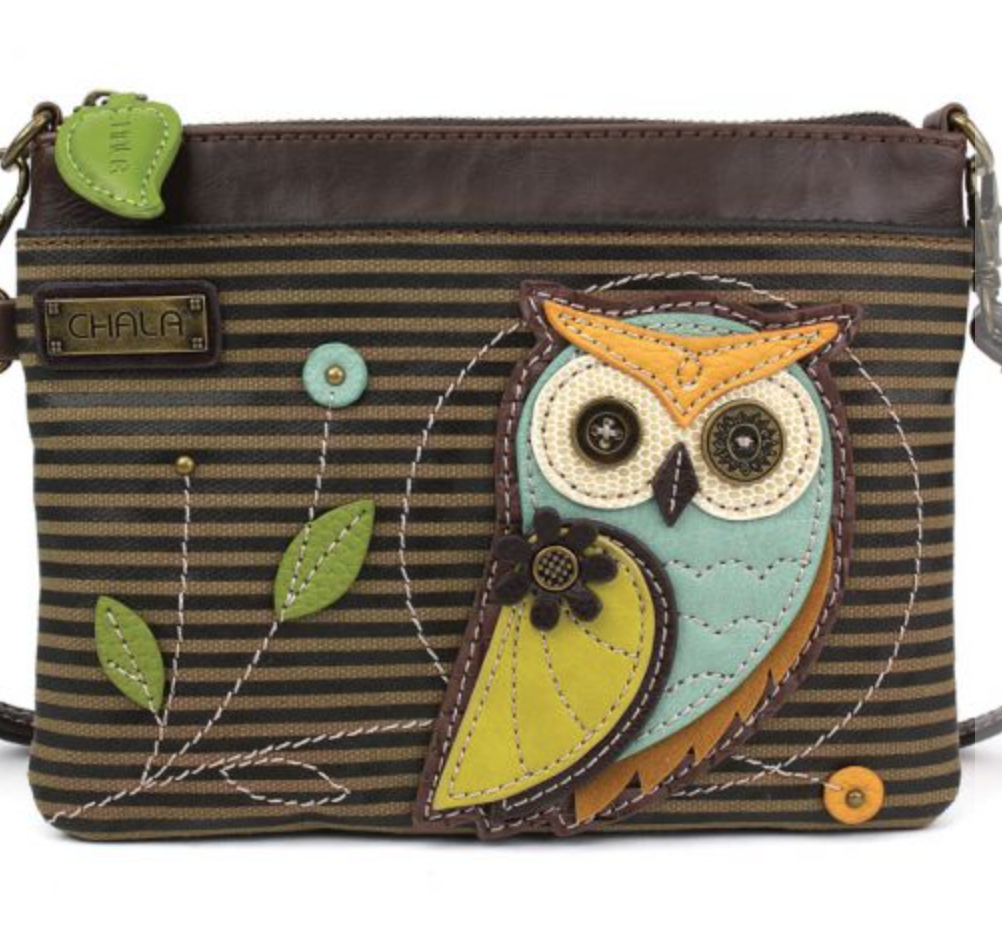 Striped Owl MIni Crossbody