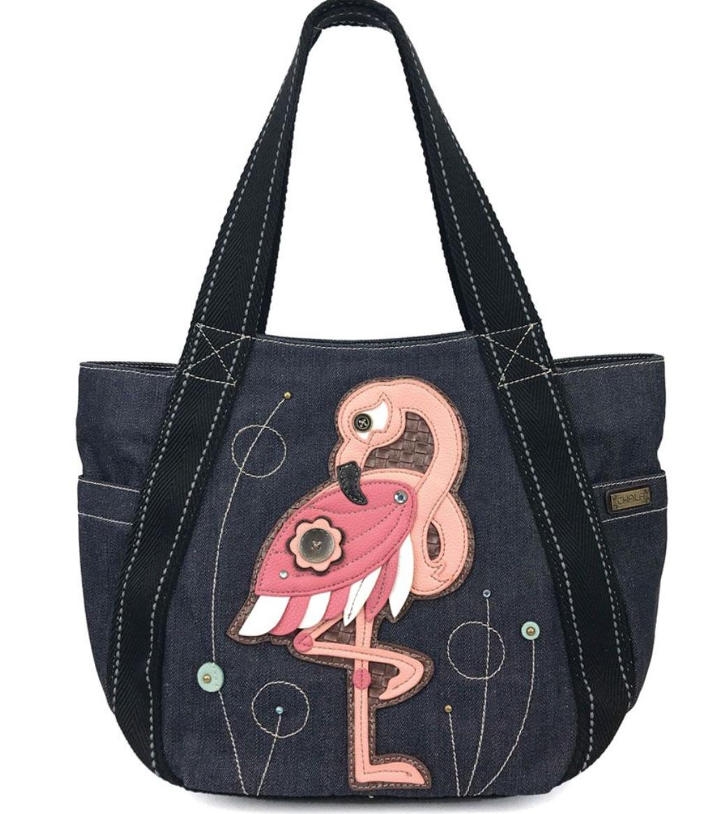 Flamingo Carryall Zip Tote