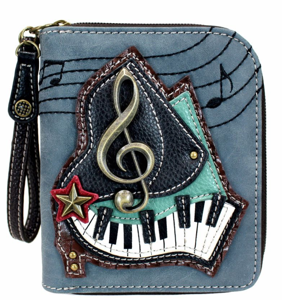 Piano Zip Around Wallet