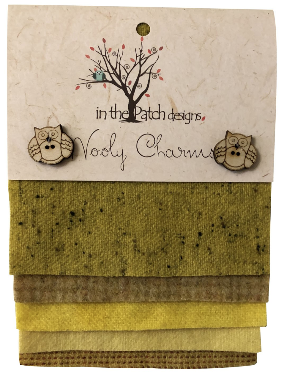 Wooly Charms Yellows Dyed 100% wool 5in X 5in 5 count