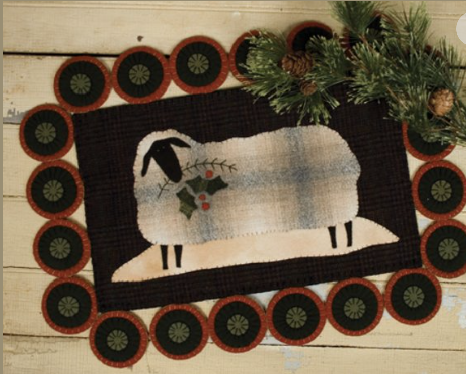 Cozy Fleece 10 X 16 Table Mat Pattern by Threads that Bind