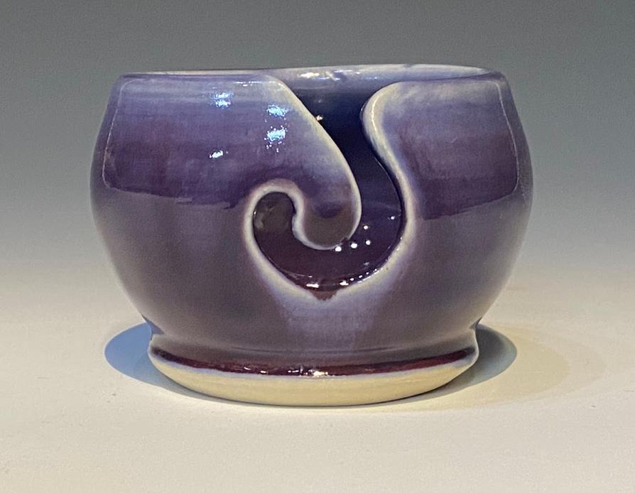 Thread Tumbler Bowl Purple Handmade in the USA!!