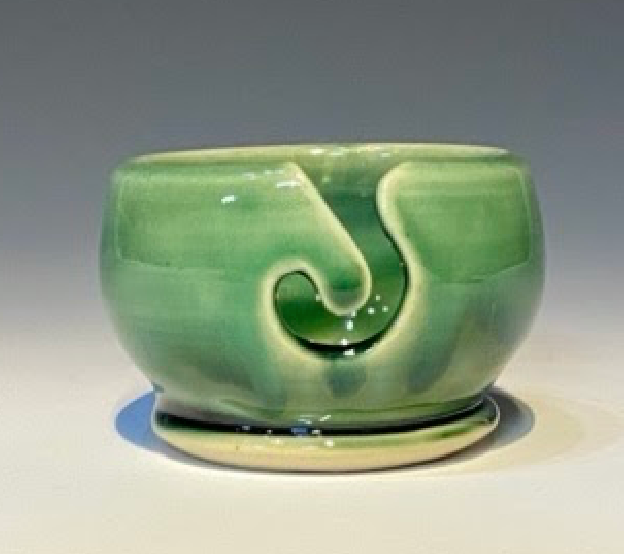 Thread Tumbler Bowl Green  Handmade in the USA!!