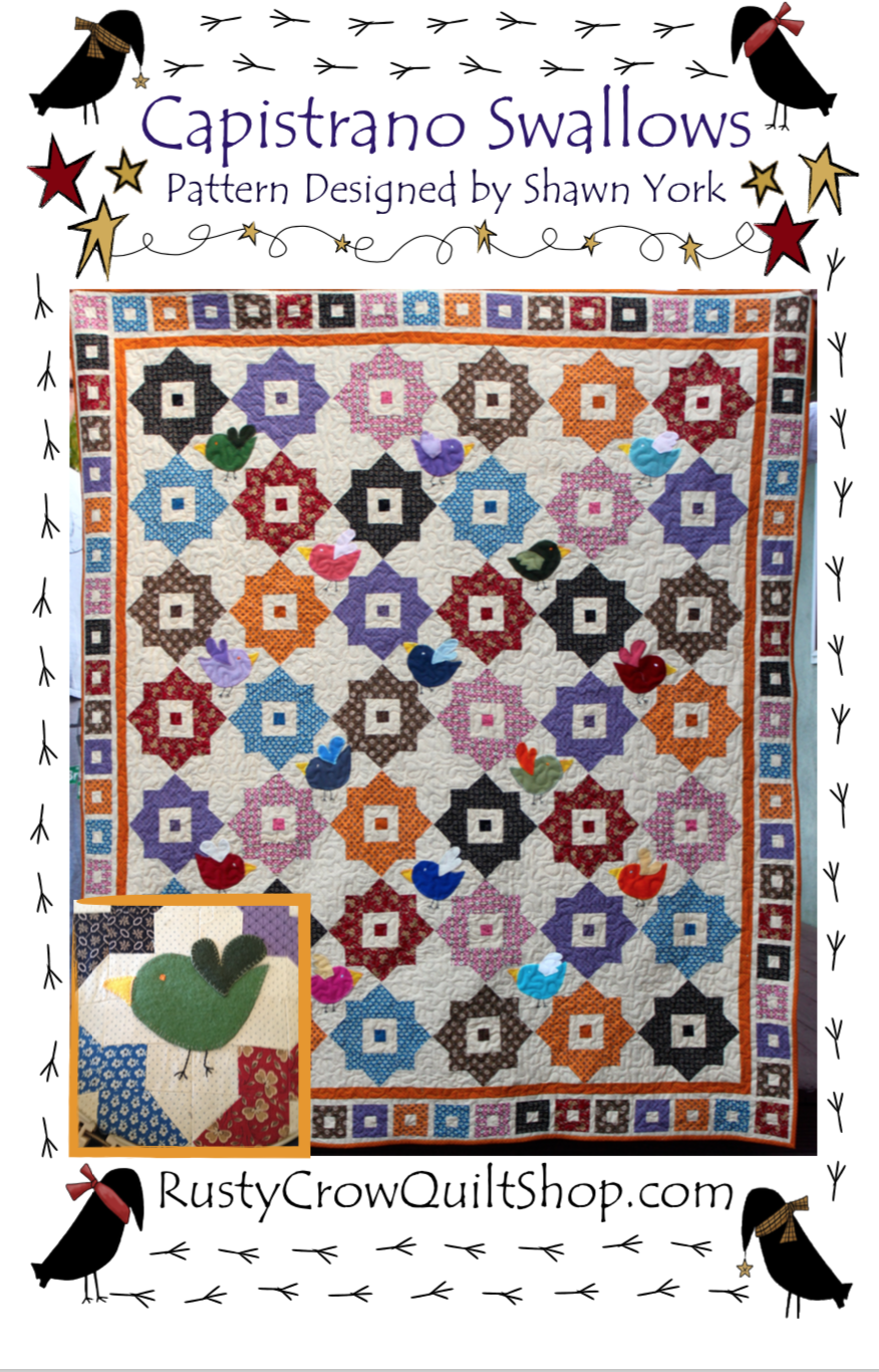 Capistrano Swallows Quilt Pattern by Shawn York
