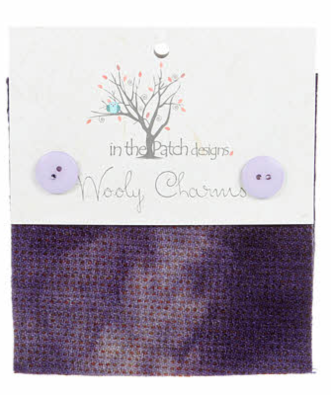 Wooly Charms Blackberry WC5703 Hand Dyed 100% wool 5in X 5in 5 count