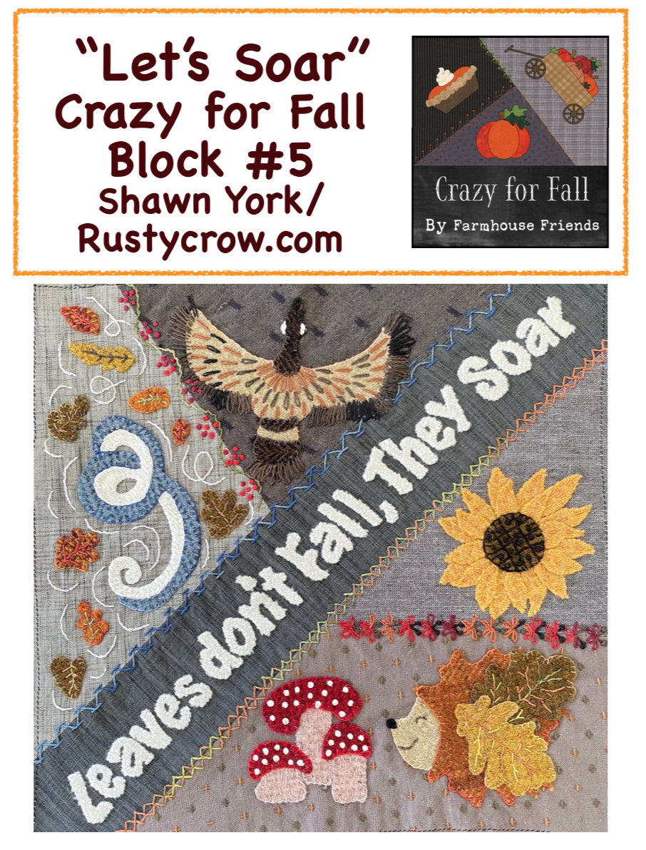 Let's Soar Block #5 Crazy for Fall Stitch Along Download Only