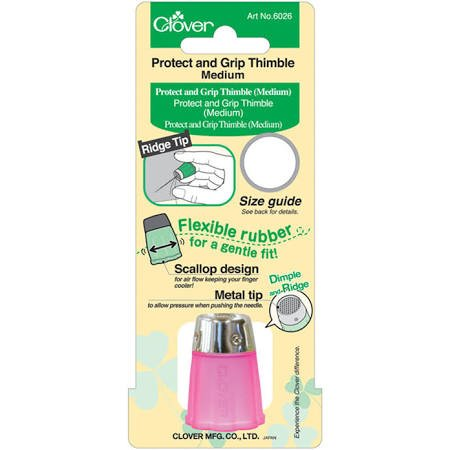Clover Medium Thimble Flexible with Ridged and Dimpled Metal Top