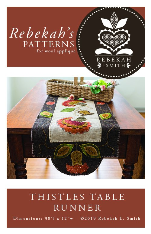 Thistles Table Runner by Rebekah Smith Pattern