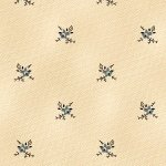 Antique Cotton Calicos Cream with Blue Flowers R17 5244 0150