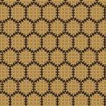 Bristle Creek Farmhouse R22 7890 0132 Yellow With Black Honeycomb