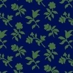 Bristle Creek Farmhouse R22 7893 0110 Navy Background with Green Flowers