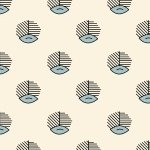 Devon County Cream background with Light Blue Design R51 7986 0190