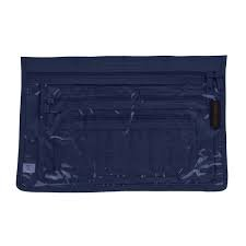 Yazzii 3-Piece Notions Pouch Set Navy Blue