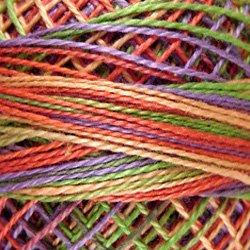 V21 Size 12 Chimney Sparks - soft shades of lime yellowpeach-orangelavender Valdani