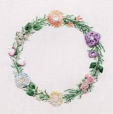 Circle of FlowersBrazilian hand embroidery