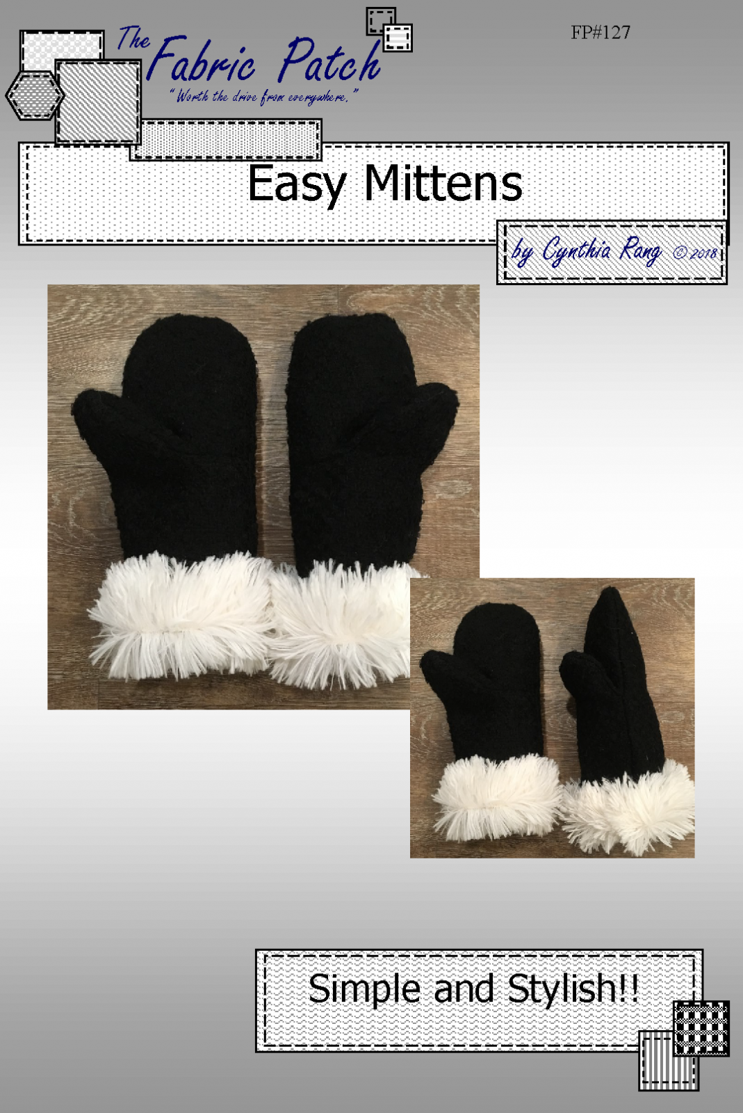 Easy Mittens Downloadable Pattern