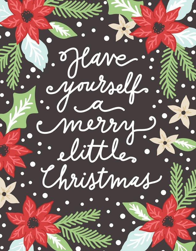 Merry Little Christmas Quilt Panel