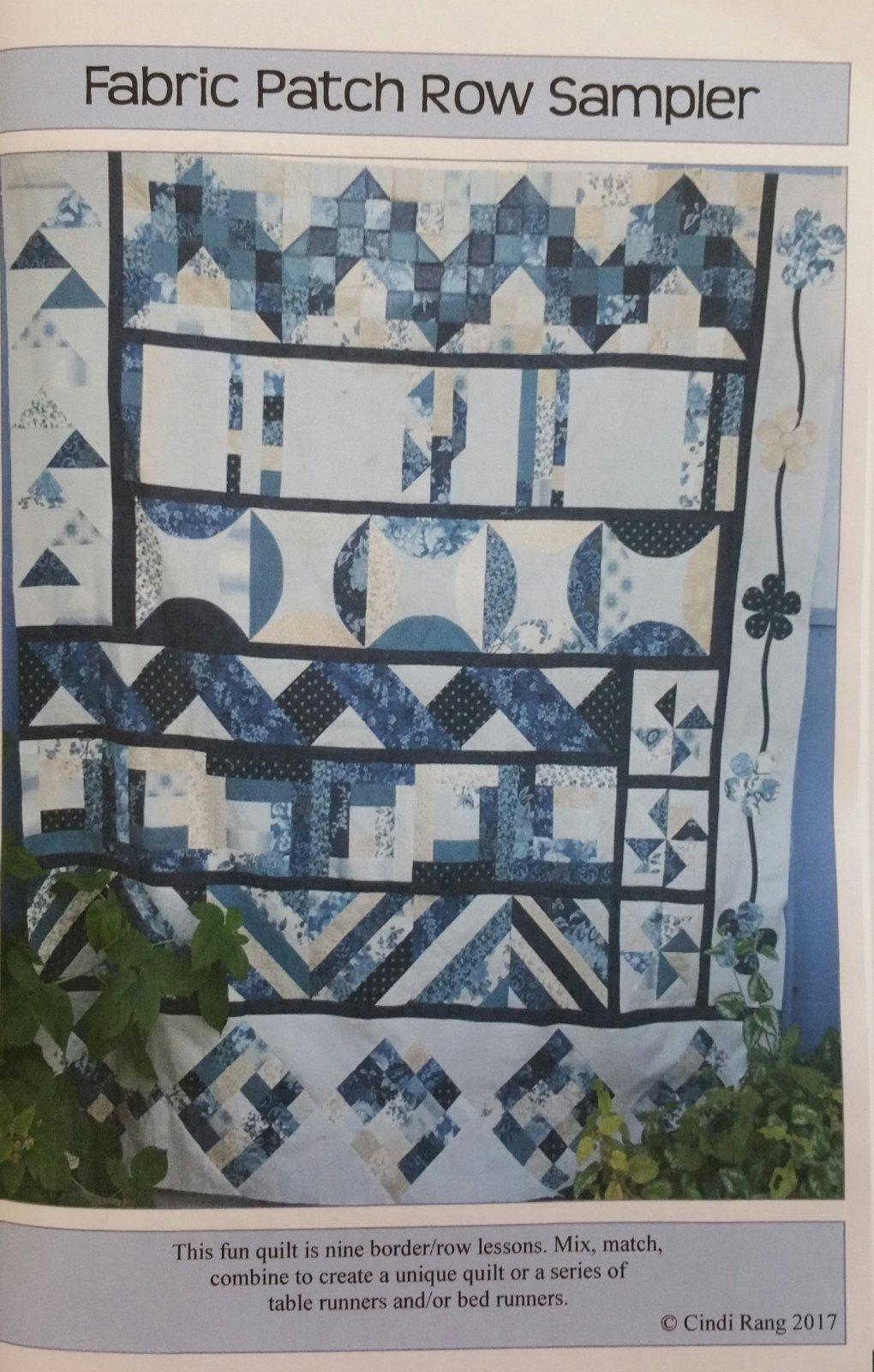 Fabric Patch Row Sampler Digital Download