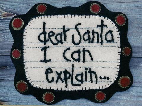Dear Santa, I can explain...