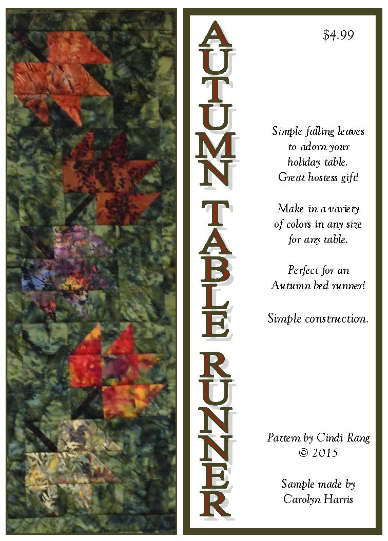 Autumn Table Runner Pattern